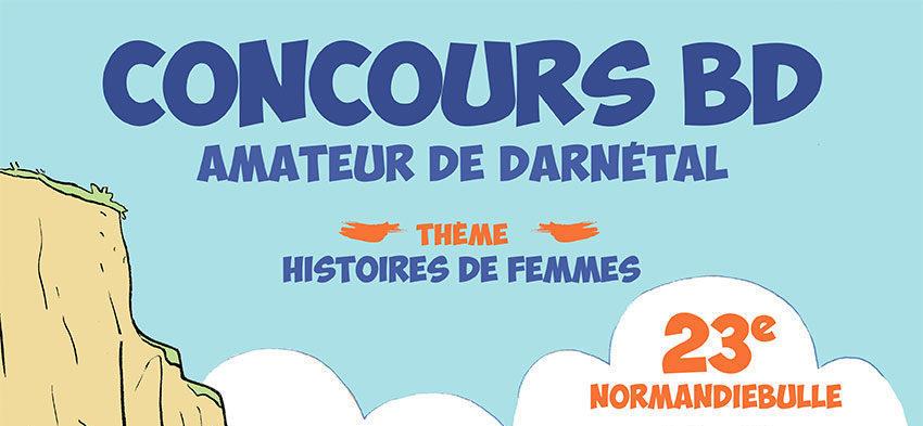 Affiche Concours BD Amateur - Normandiebulle 2018